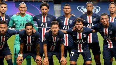 Le PSG lors de la finale de la Ligue des champions