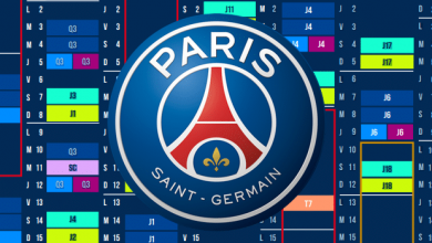 calendrier PSG